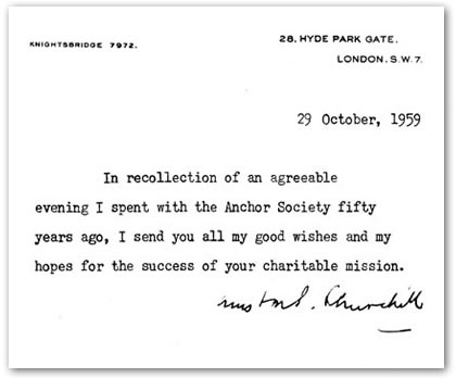 Winston Churchill Response